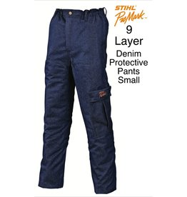 "Stihl Chain Saw Protective Pants ""Denim"" 9-Layer"