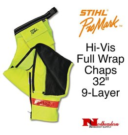 Stihl Hi-Vis Full Wrap Chaps, Select Length