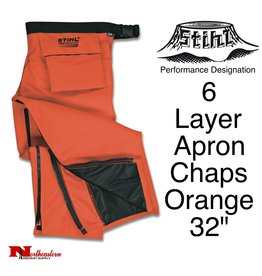 Stihl Performance 6 Layer Apron Chaps, Orange