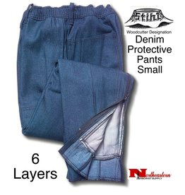 "Stihl Chain Saw Protective Pants ""Denim"" 6-Layer"