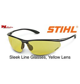 Stihl Sleek Line Safety Glasses with Yellow Lens