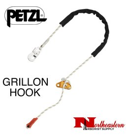 Petzl Lanyard, GRILLON HOOK 3 m, Adjustable work positioning lanyard with HOOK