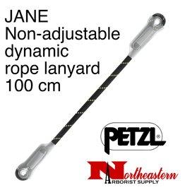 Petzl Lanyard, JANE, Non-adjustable dynamic rope 100 cm