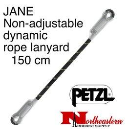 Petzl Lanyard, JANE Non-adjustable dynamic rope, 150 cm