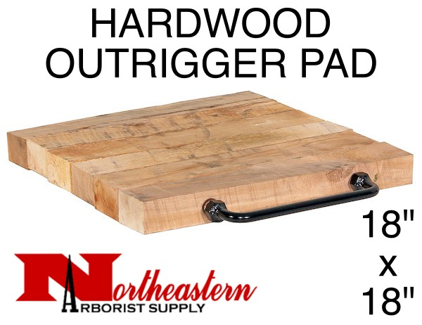 """Outrigger Pad, Natural Hardwood, 18"""" x 18"""", 2"""" Thick"""