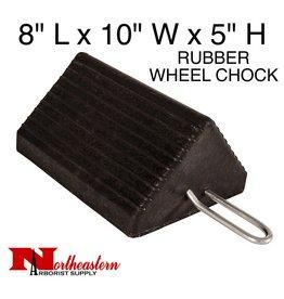 "Wheel Chock, Heavy-Duty Rubber w/Handle 10"" W x 8""D x 5""H"