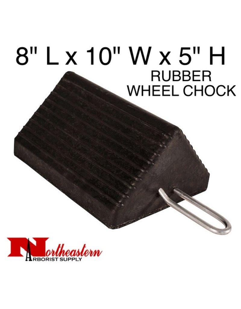 "Chock, Wheel Heavy-Duty Rubber w/Handle 10"" W x 8""D x 5""H"