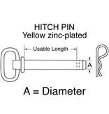 """HITCH PIN Yellow zinc-plated 5/8"""" x 6+1/4"""""""