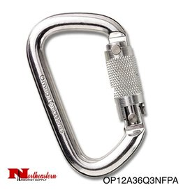 "Omega Pacific Modified D 1/2"" NFPA 3-Stage Quik-Lok Carabiner"