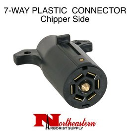Trailer End Connector, 7-Pin Plastic Flat Pins, Chipper Side