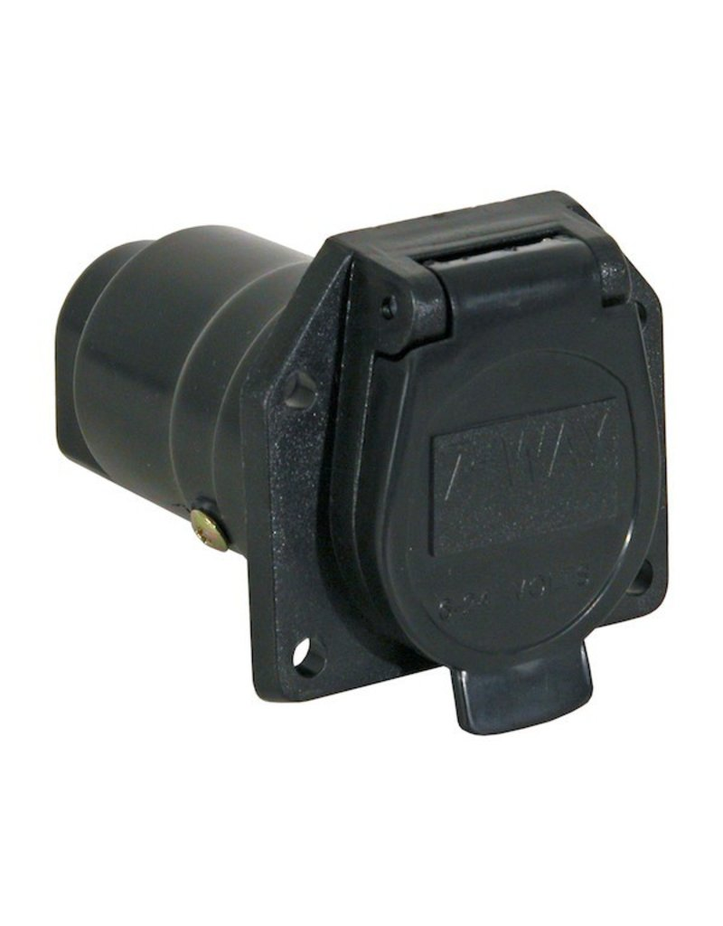 Truck Side Trailer Connector, 7- Flat Pin Plastic