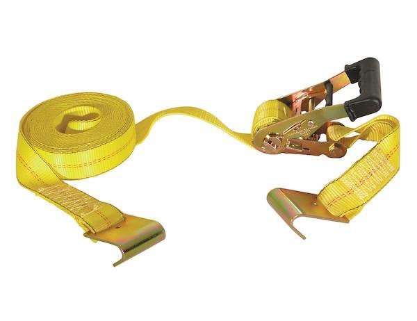 "RATCHET STRAP 2"" x 27' J-Hooks, 3,300# W.L.L."