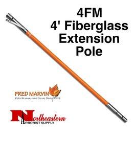 Fred Marvin Fiberglass Extension Pole, 4'
