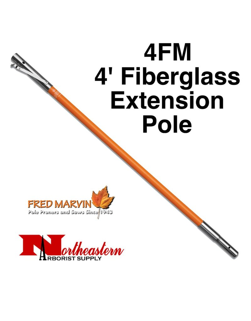 Fred Marvin Marvin fiberglass poles are lightweight and extremely durable. The wall thickness is 25% greater than the average pole to ensure a ridged feel. Bright orange coloring makes them easy to spot. Marvin poles feature air craft grade aluminum extension coupli