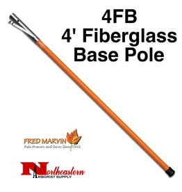 Fred Marvin Marvin 4' Fiberglass Base Pole with End Cap
