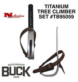 Buckingham Climber, Titanium Set with replaceable gaffs