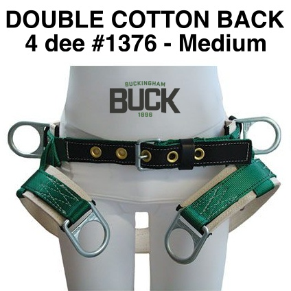 Buckingham SADDLE, 4 Dee Double Thick w/o leg straps