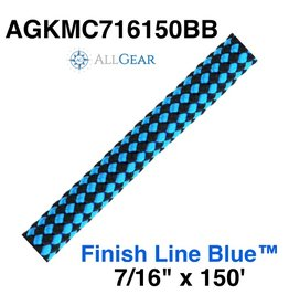 "All Gear Inc. Finish Line Blue™ 7/16"" x 150' 32-Strand Kernmantle Composite Climbing Line"
