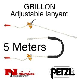 Petzl Lanyard, GRILLON Adjustable for work positioning, 5m