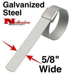 "DIXON Galvanized Carbon Steel Center Punch Clamp 5/8"" wide x 1+1/4"" diameter"