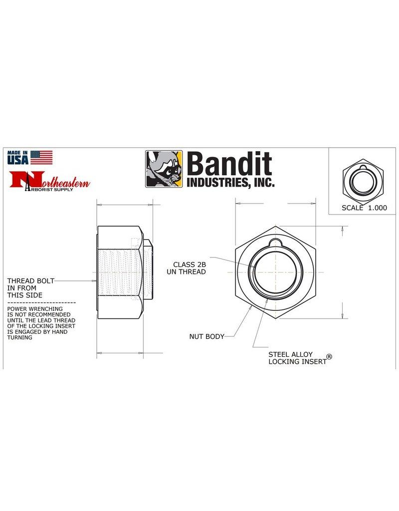 "Bandit® Blade (Knife) Nut/280-1850 5/8""-11, 180 Ft-Lbs, of Torque"