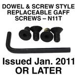 Buckingham Climber, Replacement Screw Style Gaff Screws, Set-N11T