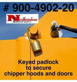 Bandit® Parts Pad Lock with Long Shackle a keyed padlock to secure the chipper hood and/or doors (900-4902-20)