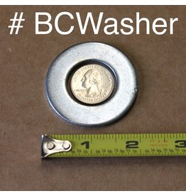 """Border Concepts Washer for Tire on Log Cart 1"""" ID 2.5"""" OD 3/16"""" THICK ZINC"""
