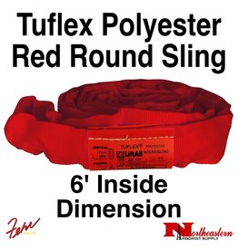 Lift-All® Tuflex Roundsling, 6 FT RED Polyester