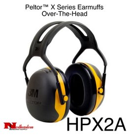 3M PELTOR X2A Over-the-Head Earmuffs, Dielectric