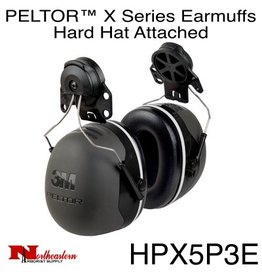 3M PELTOR X5 Earmuffs, Hard Hat Attached
