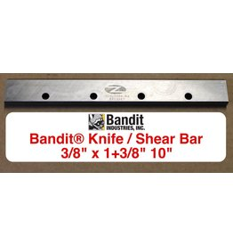 "Bandit® Parts Knife, Shear Bar 38"" thick x 1+3/8"" wide x 10"" Long, 259-3004-84"