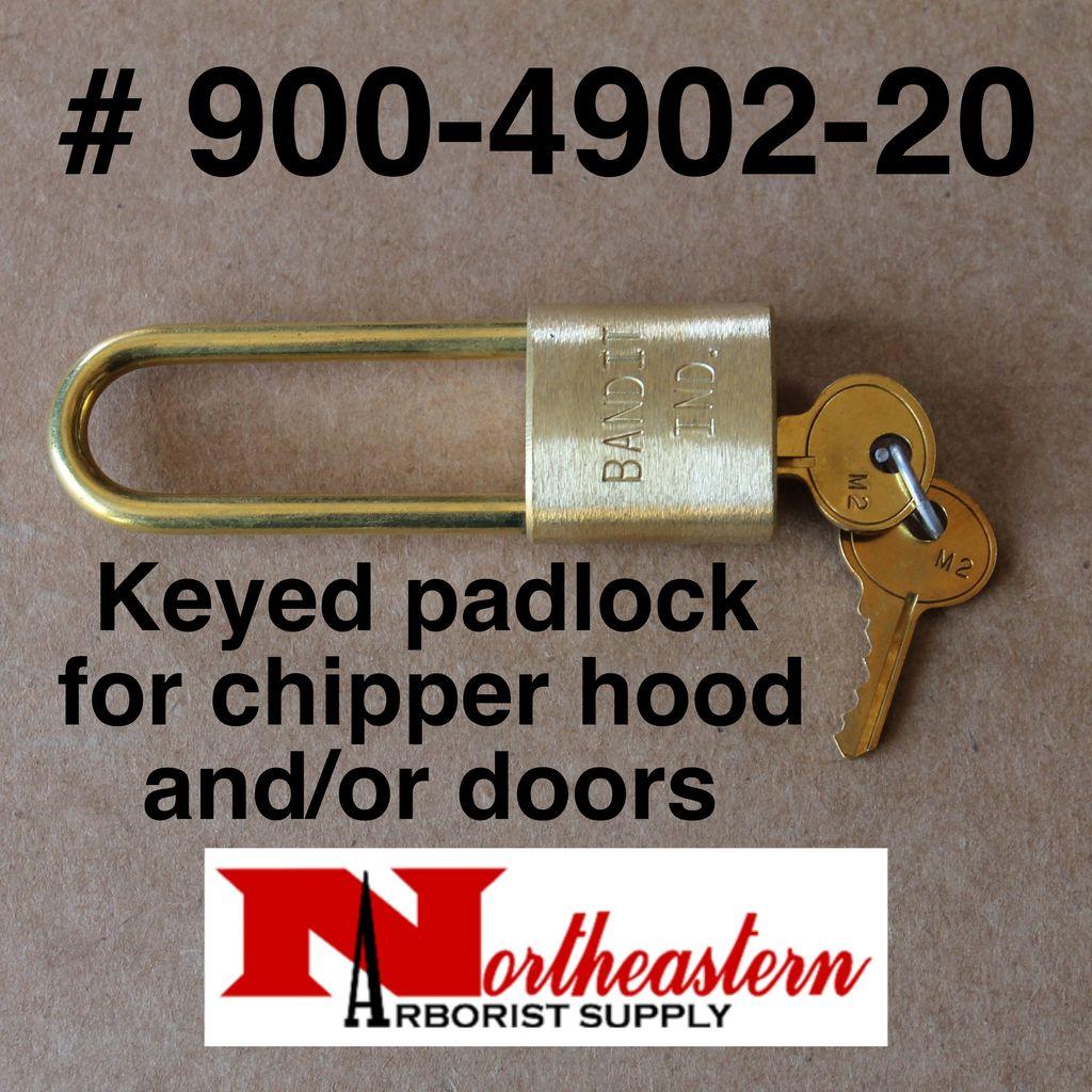 Bandit® Parts Pad Lock, Long Shackle for Hood Pin