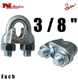 """Fehr Bros. Zinc Plated Malleable Wire Rope Clip 3/8"""""""