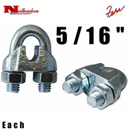 """Fehr Bros. Zinc Plated Malleable Wire Rope Clip 5/16"""""""