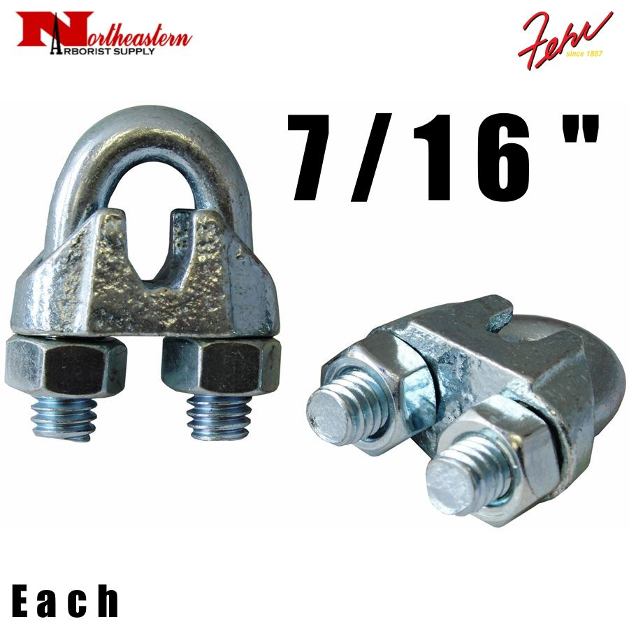 """Fehr Bros. Zinc Plated Malleable Wire Rope Clip 7/16"""""""