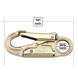 "U.S. Rigging Snap, NARROW THROAT 5+5/8"" Locking 34kn MBS"