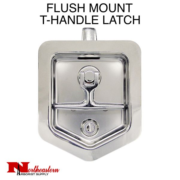 TALL FLUSH MOUNT T-HANDLE LATCH WITH BLIND STUDS