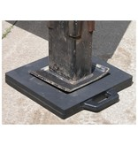 "OutRigger Pad 18"" x 18"" Constructed of 2"" solid rubber with textured surface and built-in handle."