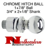 "Ball 1+7/8"", Replacement, Shank Diameter 3/4"" x 2+1/8"" Shank Length, 3,500# M.G.T.W."