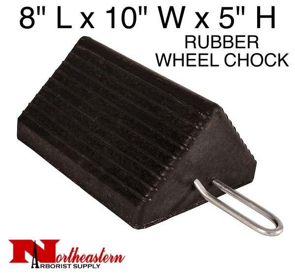 "Chock, Wheel Heavy-Duty Rubber w/Handle 10"" W x 8""D x 5""H"
