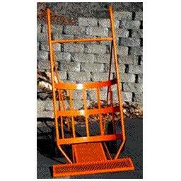"Border Concepts Log Cart with Tray Orange 1600# Capacity 35"" Wide x 72"" High"