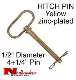 """HITCH PIN Yellow zinc-plated 1/2"""" x 4+1/2"""""""