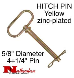 "HITCH PIN Yellow zinc-plated 5/8"" x 4+1/4"""