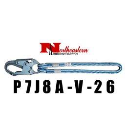 Buckingham HIP PRUSIK LOOP, 26″ eye to eye 16 strand 1/2″, blue streak, 1706 locking rope snap.