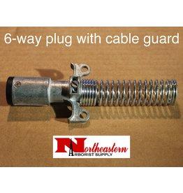 Bandit® Parts Trailer Connection, MALE 6 POLE PLUG with cable guard