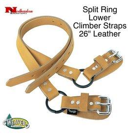 "Weaver Split Ring Lower Climber Straps, 26"" Leather"