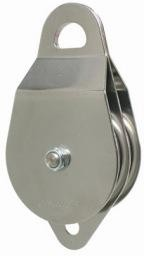 "CMI Stainless Steel sideplates, two 4"" Aluminum sheaves, Bushing, and Stainless Steel axle."