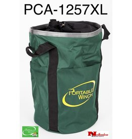 "PORTABLE WINCH CO. Rope Bag Large Green will Hold 650' of 1/2"" Rope"