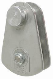 CMI Steel sideplates, Aluminum sheave, Bushing, and Zinc-plated Steel axle. 40000#